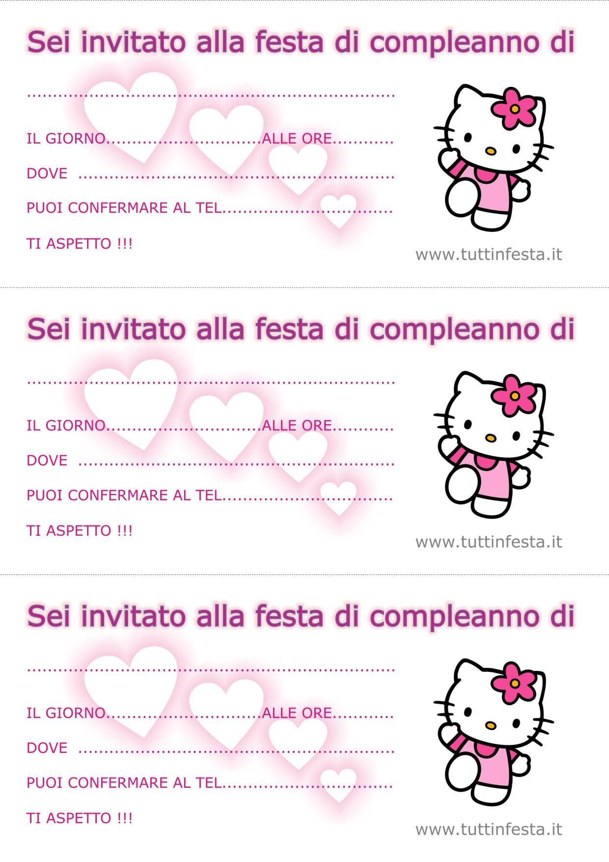 Biglietti invito per compleanno gratis
