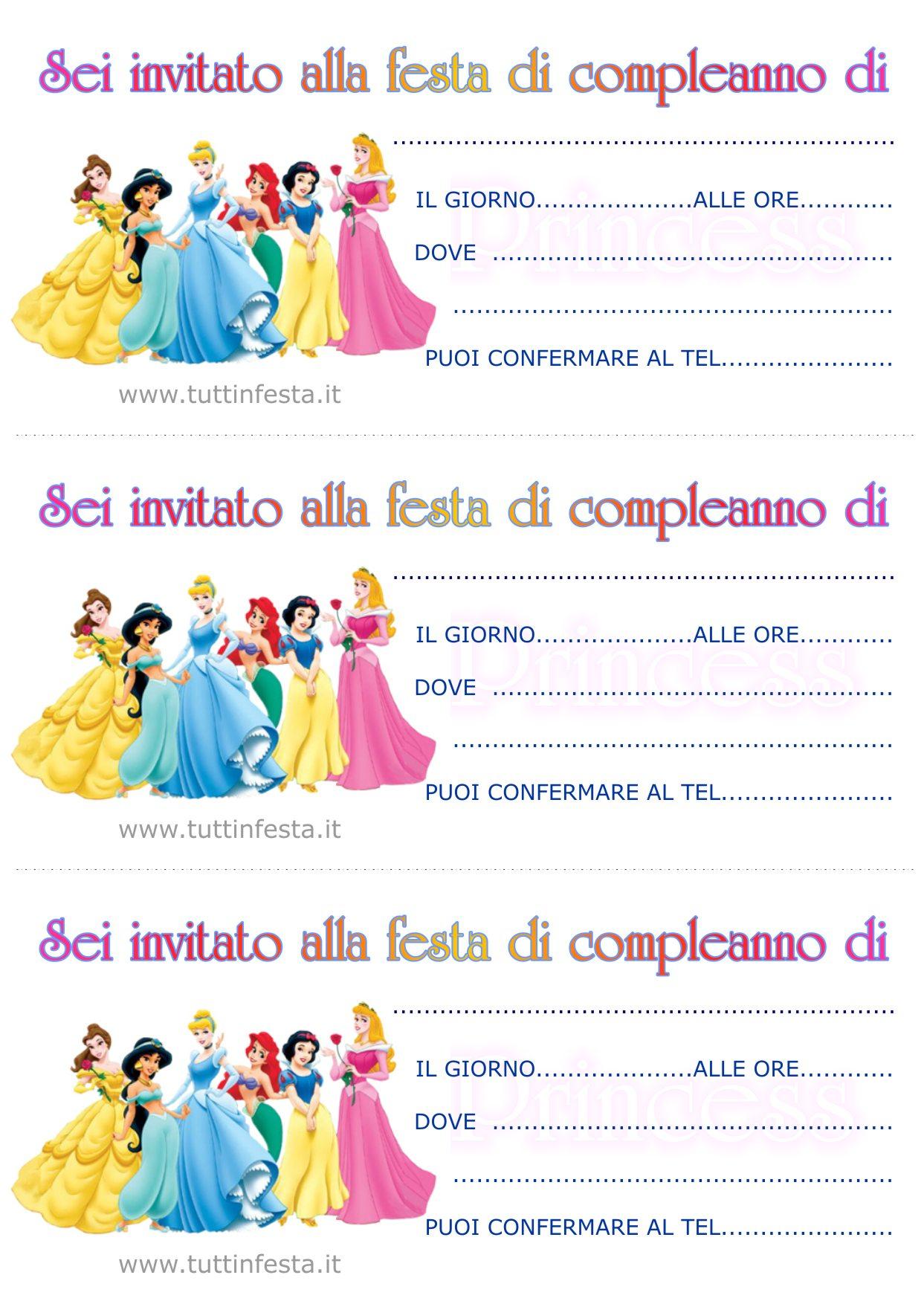 Tanti biglietti di invito per il tuo compleanno tutti personalizzabili